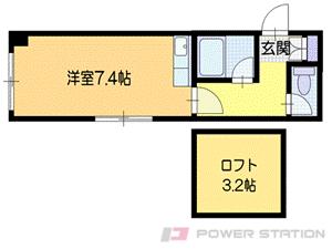 真駒内1Rアパート図面