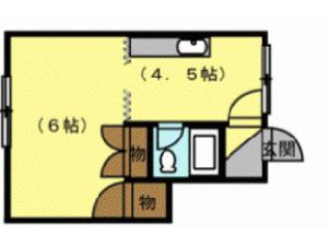 澄川1DKアパート図面