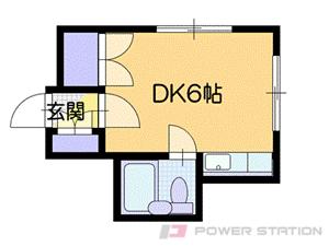 札幌市南区澄川1条3丁目0賃貸アパート間取図面