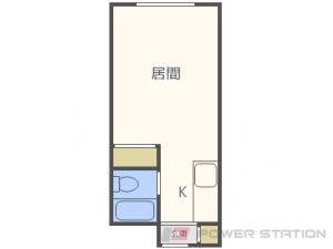 真駒内1Kマンション図面