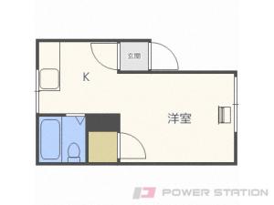 澄川1Kマンション図面