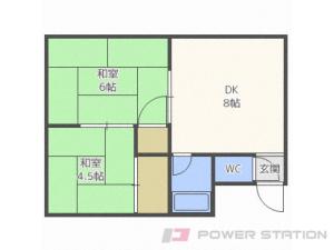 真駒内2DKアパート図面