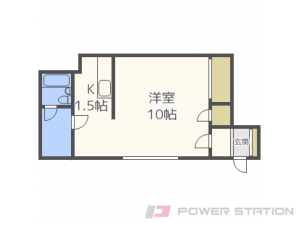 真駒内1Kアパート図面
