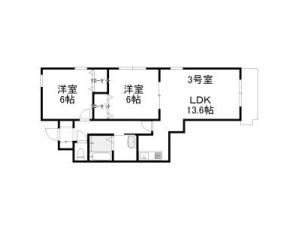 札幌市西区発寒4条3丁目1賃貸マンション間取図面