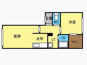 宮の沢1LDKアパート図面