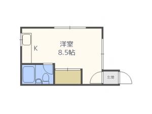 発寒南1LDKアパート図面