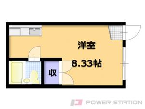 二十四軒1Rアパート図面
