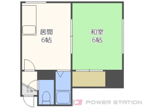 札幌市西区発寒1条4丁目0賃貸アパート間取図面
