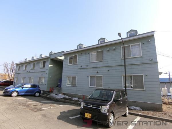 北広島1DKアパート外観