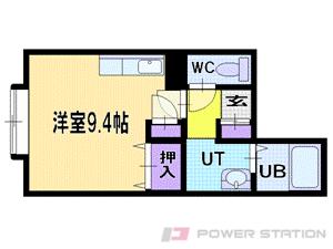 北広島1DKマンション図面