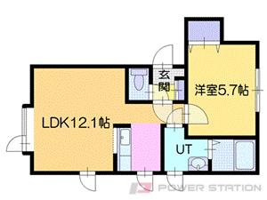 北広島市大曲中央3丁目0賃貸アパート間取図面