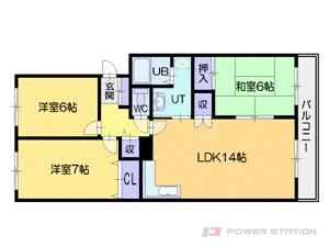 新札幌3LDKマンション図面