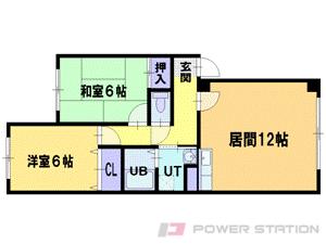 北広島2DKマンション図面