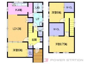 北広島3LDK一戸建貸家図面