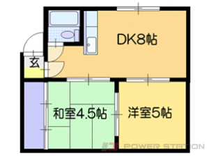 北広島2LDKマンション図面