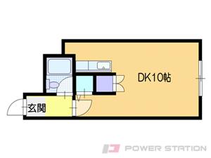 北広島1Rアパート図面