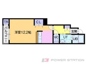 北広島1Kアパート図面