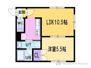 新札幌1LDKアパート図面