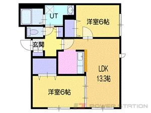 北広島市大曲緑ヶ丘7丁目0賃貸アパート間取図面