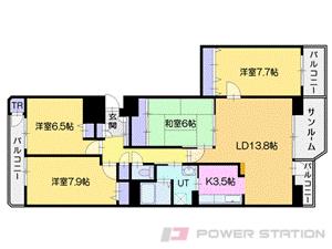 北広島4LDKマンション図面