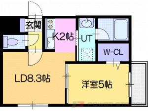 Reve北広島:1号室