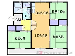 北広島3LDKマンション図面