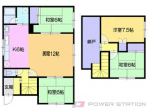 新札幌4LDK一戸建貸家図面
