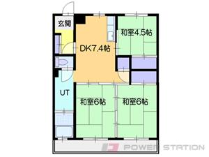 北広島市栄町1丁目0賃貸マンション間取図面