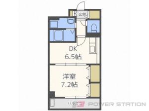 東札幌1DKマンション図面