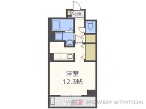 東札幌1Kマンション図面