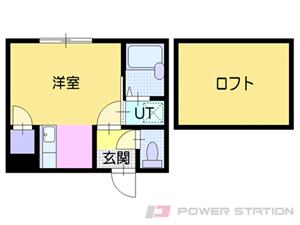 南郷7丁目1Kアパート図面