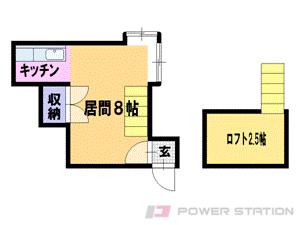 札幌市白石区栄通20丁目0賃貸アパート間取図面