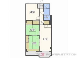 東札幌3LDK分譲リースマンション図面