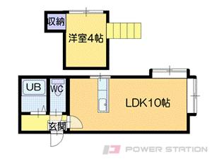 札幌市白石区栄通21丁目1賃貸アパート間取図面