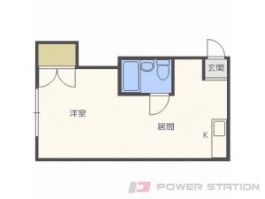 菊水1DKマンション図面