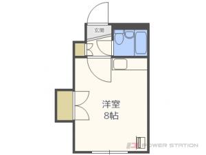 札幌市白石区菊水6条2丁目0賃貸マンション間取図面