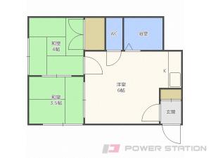 東札幌2DKアパート図面