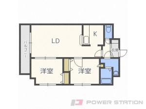 札幌市白石区菊水3条5丁目0賃貸マンション間取図面