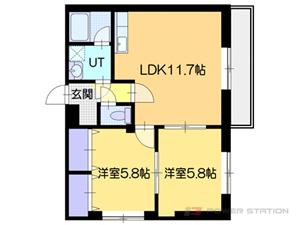 札幌2LDKマンション図面