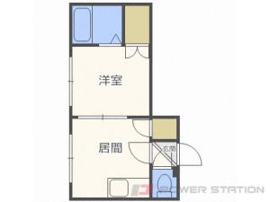白石1DKアパート図面