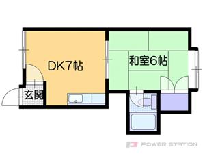 札幌市白石区本通17丁目北0賃貸アパート間取図面