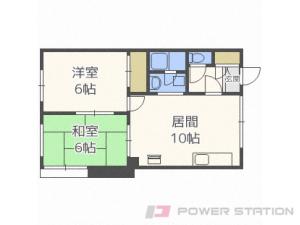東札幌2LDKアパート図面