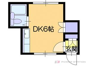 白石1Rアパート図面