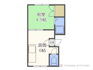 札幌市白石区本通10丁目南1賃貸アパート間取図面