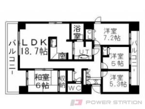菊水4LDK分譲リースマンション図面