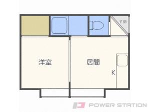札幌市白石区栄通6丁目0賃貸マンション間取図面