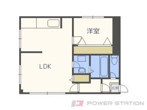 平和1LDKアパート図面