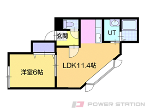 札幌市白石区川下4条5丁目0賃貸アパート間取図面