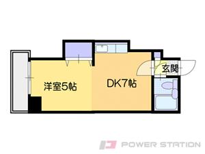札幌市白石区菊水2条1丁目0賃貸マンション間取図面