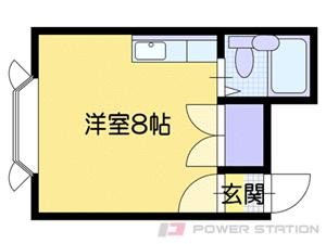 南郷7丁目1Rアパート図面
